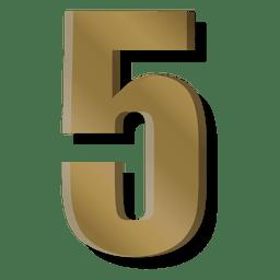 Barra de oro figura cinco símbolo