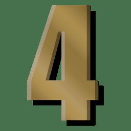 Símbolo de la figura cuatro de la barra de oro