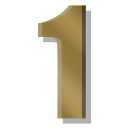 Gold bar figure one symbol