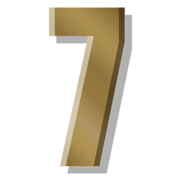 Gold bar figure seven symbol