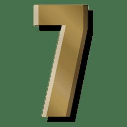 Símbolo de figura de barra de ouro sete