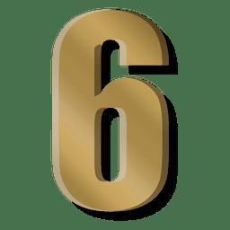 Símbolo de la figura seis de la barra de oro