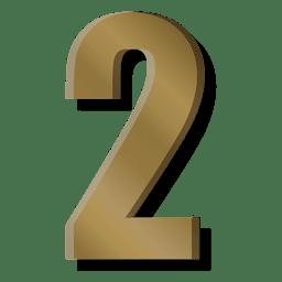 Símbolo de figura de barra de ouro dois