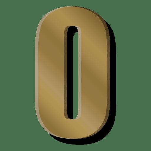 Símbolo de la figura cero de la barra de oro