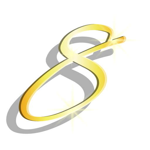 Gold figure eight artistic symbol Transparent PNG