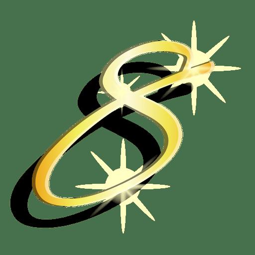 Símbolo artístico de oro figura ocho