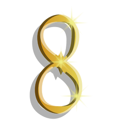 Gold figure eight symbol