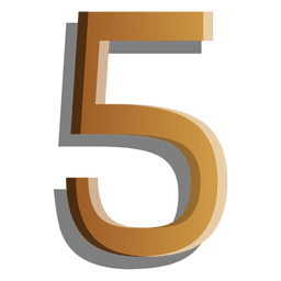 Gold figure five solid symbol