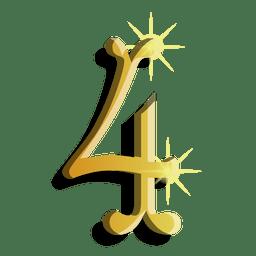Symbol der Goldzahl vier