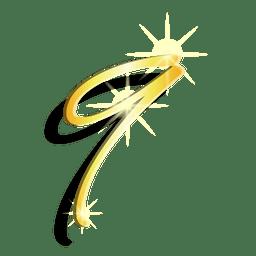 Oro figura nueve símbolo artístico