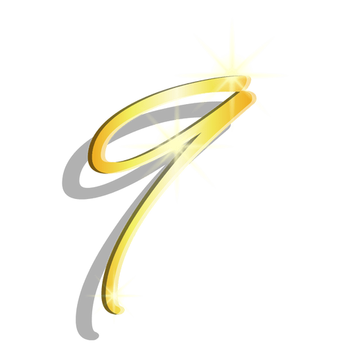 Figura de oro nueve símbolo artístico