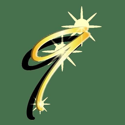 Gold figure nine artistic symbol Transparent PNG