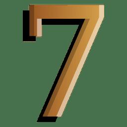 Figura de oro siete símbolo sólido