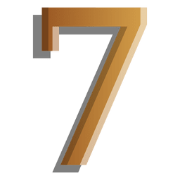 Gold figure seven solid symbol