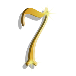 Figura siete símbolo de oro