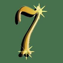 Gold figure seven symbol