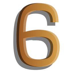 Gold figure six solid symbol