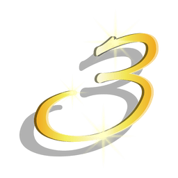 Oro figura tres símbolo artístico