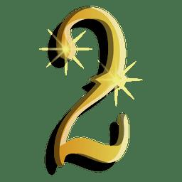 Symbol der goldenen Zahl zwei