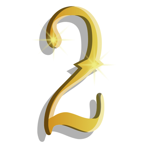 Gold figure two symbol