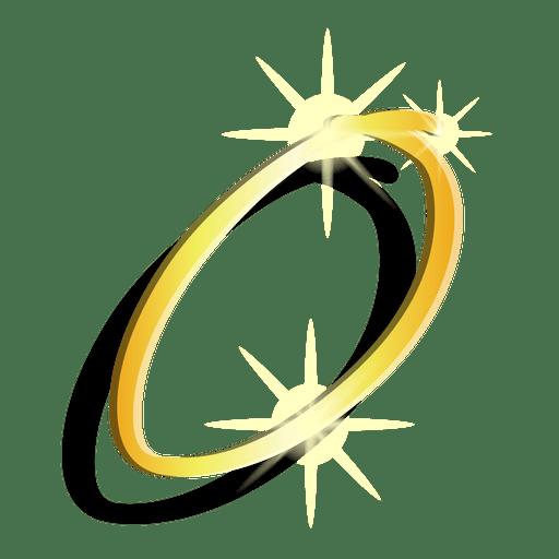 Símbolo artístico cero figura de oro Transparent PNG