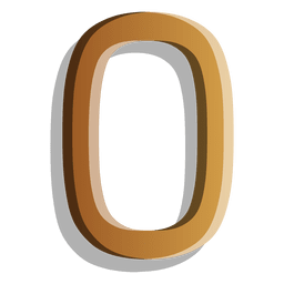 Gold figure zero solid symbol