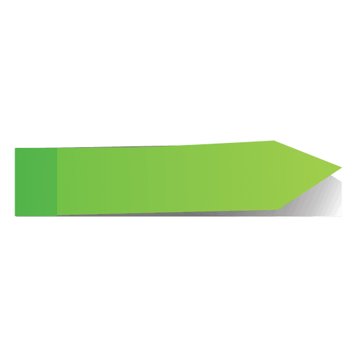 Green post it arrow page marker Transparent PNG