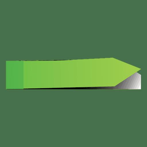 Marcador de página de flecha verde post it Transparent PNG
