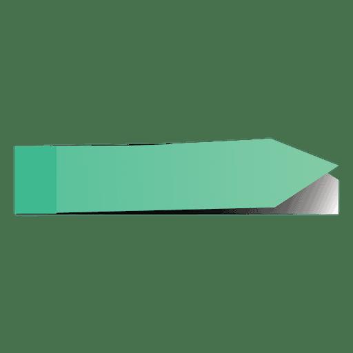 Green post it arrow sticker