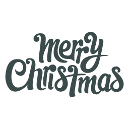Groovy christmas greetings lettering