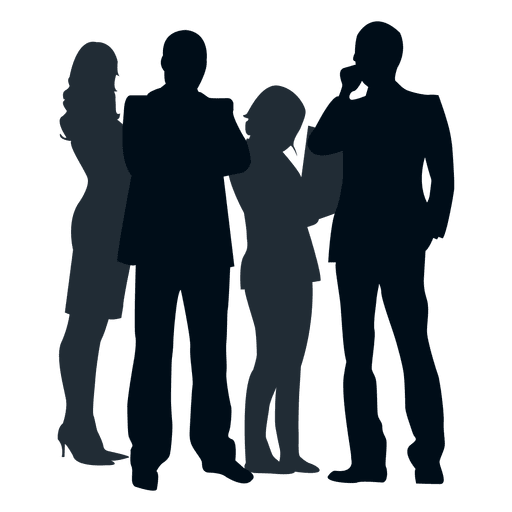 Grupo de personas silueta Grupo de personas silueta