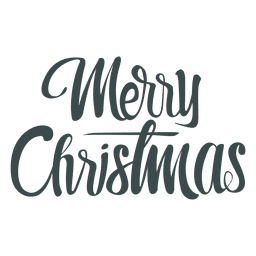 Handwritten christmas greetings lettering