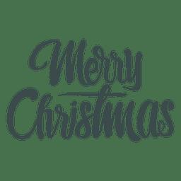 Letras manuscritas de saludos de Navidad