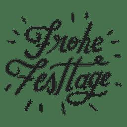 Boas festas, letras em alemão