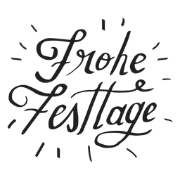 Happy holidays lettering in german