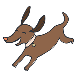 Happy pet dog cartoon