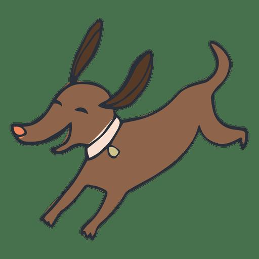 Happy pet dog cartoon