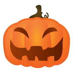 Hard laughing halloween pumpkin
