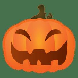 Risa dura calabaza de halloween
