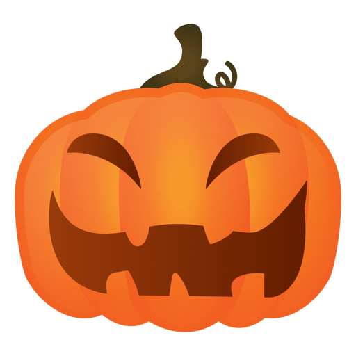 Hard laughing halloween pumpkin Transparent PNG