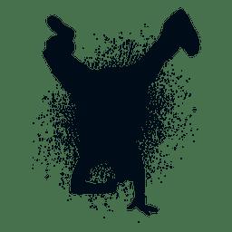 Hip hop dance splash paint silhouette