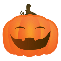 Laughing halloween pumpkin