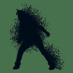 Locking dance splash paint silhouette