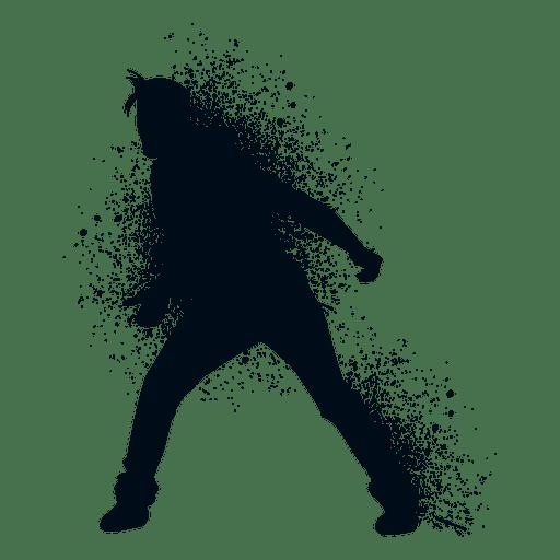 Locking dance splash paint silhouette Transparent PNG