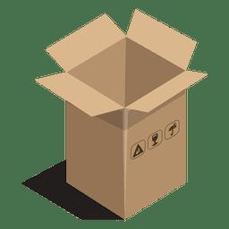 Caixa longa com sinais de pacote