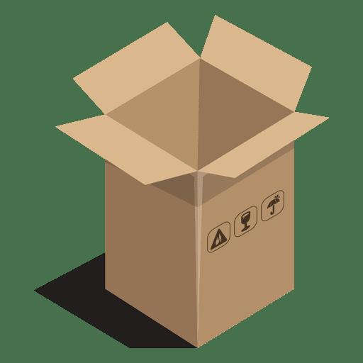 Caixa longa com sinais de pacote Transparent PNG