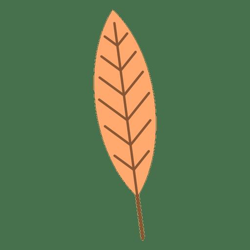 Long orange autumn leaf Transparent PNG