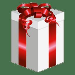 Caja de regalo envuelta larga