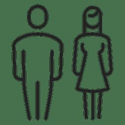 Pareja hombre y mujer trazo