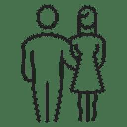 Hombre y mujer, familia, movimiento